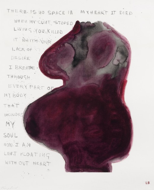 , 'When My Cunt Stopped Living,' 2009-2010, Carolina Nitsch Contemporary Art