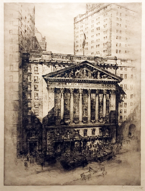 , 'Heart of Finance ( The New York Stock Exchange),' ca. 1925, Childs Gallery