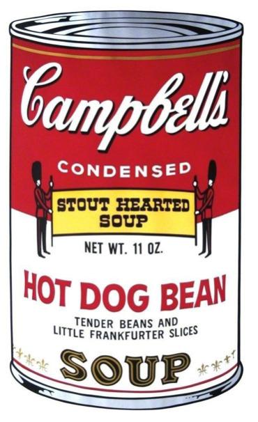 Andy Warhol, 'Hot Dog Bean Soup', 1968, Print, Screen Print, ArtLife Gallery