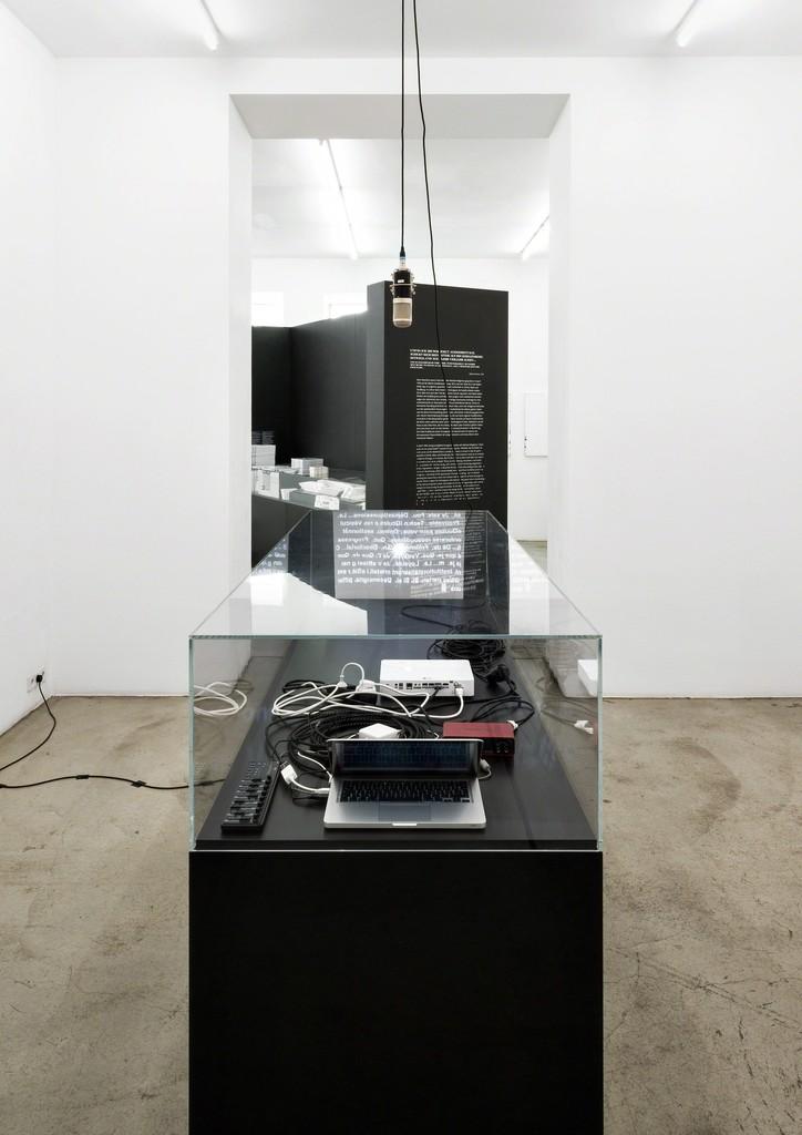 Exhibition view, Michael Riedel, Aftershows [Palais de Tokyo 2013-15], Gabriele Senn Galerie, Vienna 2016