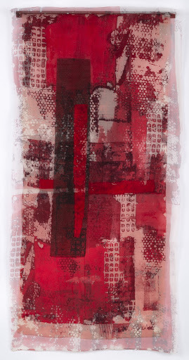 Dianne Koppisch Hricko, 'Beirut', 2018, Mixed Media, Silk organza, crepe, MX dyes, Plastic Mesh, Commercially dyed Dupioni, steel angle iron, magnets, InLiquid