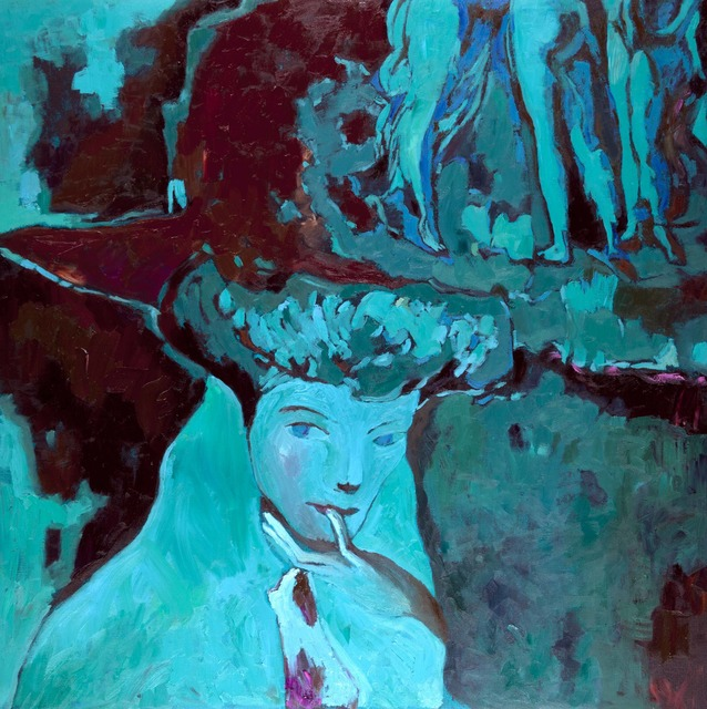 , 'Seated Woman in Blue,' 2012, Salamatina Gallery