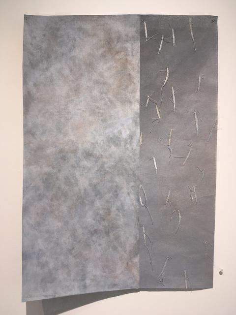 Grace Bakst Wapner, 'Painted Panel Embroidered Panel ', 2019, Textile Arts, Mixed Media, Carter Burden Gallery