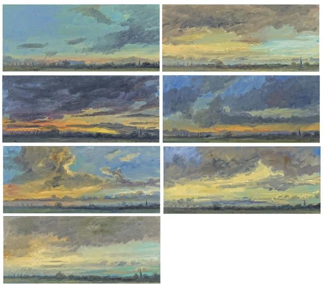 Anton Henning, '06.10.02 18:00 - 20:00', 2002, Painting, Each: Oil on canvas, Van Ham