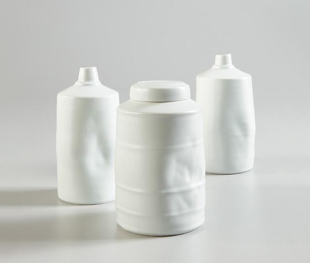 Edmund de Waal, 'Lidded jar and two vessels', 1996, Design/Decorative Art, Porcelain, celadon glaze., Phillips