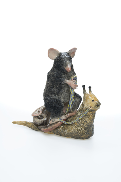 , 'black rat on a snail,' 2018, Brutto Gusto