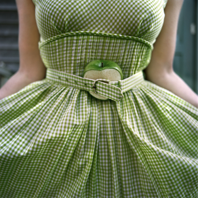 , 'The Cut Apple and Gingham Dress, Self Portrait, Clark's Island, Maine ,' 2003, Robert Klein Gallery