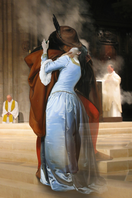 , 'The Costume of Painter - F. Hayez Kiss 3D,' 2015, Pontone Gallery