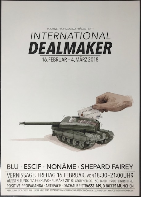Shepard Fairey, 'International Deal Maker Show Print', 2018, Print, Lithograph on White Stock Paper, New Union Gallery