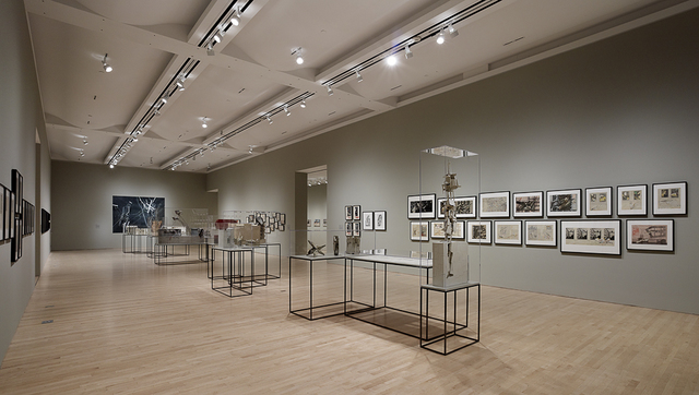 ", 'Installation view ""Lebbeus Woods: Architect"",' 2013, San Francisco Museum of Modern Art (SFMOMA)"
