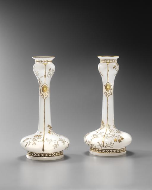 """, 'Pair of """"Chrysanthemum"""" Crystal Vases ,' ca. 1890, Galerie Didier Luttenbacher"""