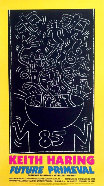 Keith Haring, 'Keith Haring Future Primeval exhibition poster 1990', 1990, Lot 180