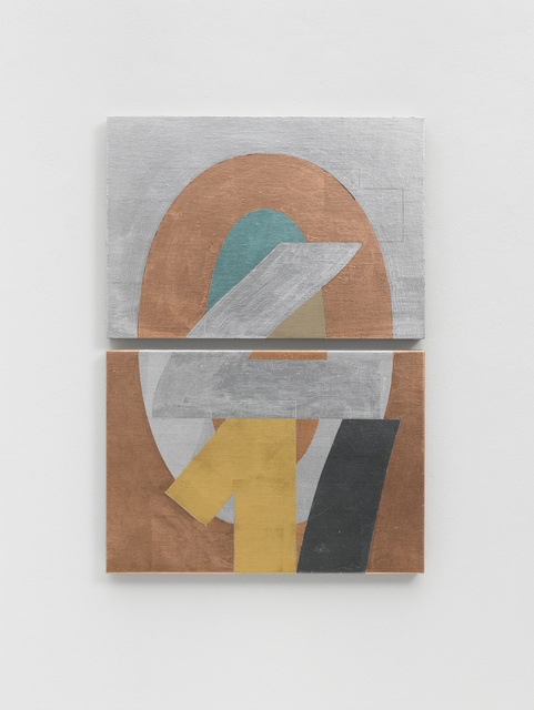 Darren Almond, 'Portrait III', 2018, Painting, Aluminium, copper, gold, pewter, silver, mineral paint and graphite on linen, White Cube