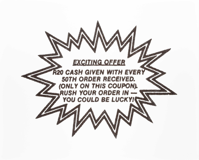 , 'Exciting Offer,' 2014, Goodman Gallery