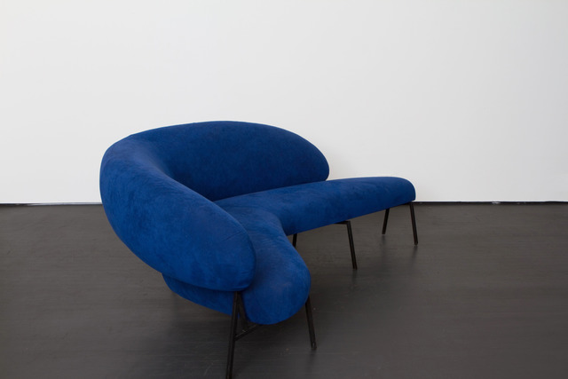", 'Boomerang shaped sofa made for ""Le Bateau Ivre"",' ca. 1953, Magen H Gallery"