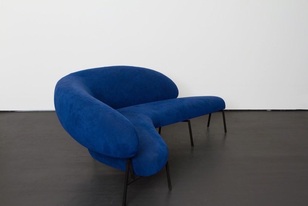 """Boomerang shaped sofa made for """"Le Bateau Ivre"""""""