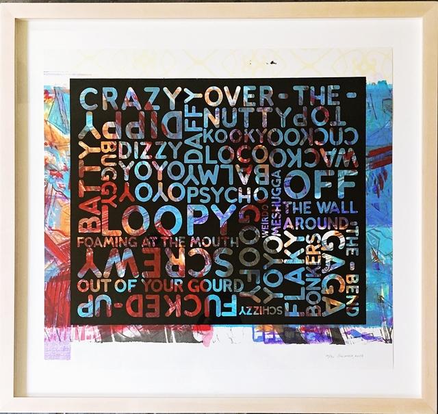 Mel Bochner, 'Crazy (With Background Noise)', 2018, Alpha 137 Gallery