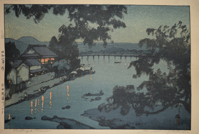 , 'Evening at Chikugo River in Hida,' 1927, Ronin Gallery