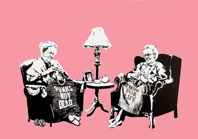 Banksy, 'Grannies signed', 2006, Galerie Kronsbein