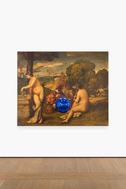 , 'Gazing Ball (Titian Pastoral Concert),' 2016, Almine Rech
