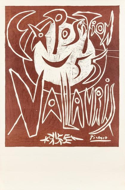Pablo Picasso, 'Exposition Vallauris 55', 1955, Print, Linocut, Hindman