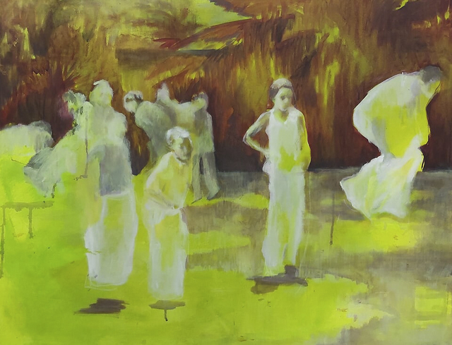 Oda Tungodden, 'The 17th of May 2004', 2019, Painting, Oil and acrylic on canvas, 99 Loop Gallery