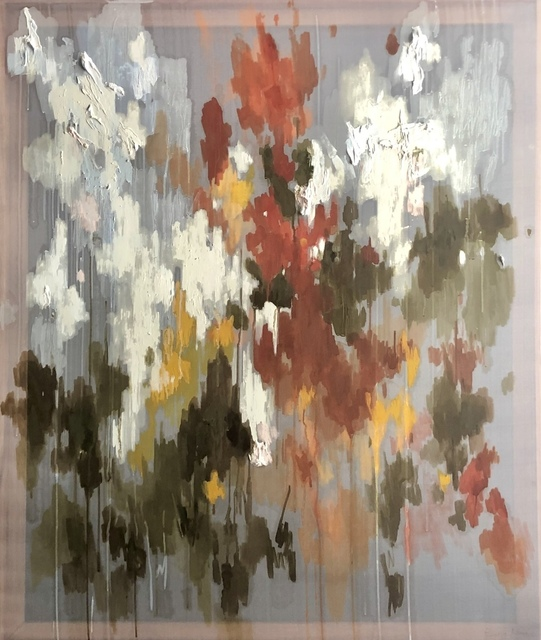 Emma Nourse, ' Finale', 2019, Painting, Oil on silk, 99 Loop Gallery