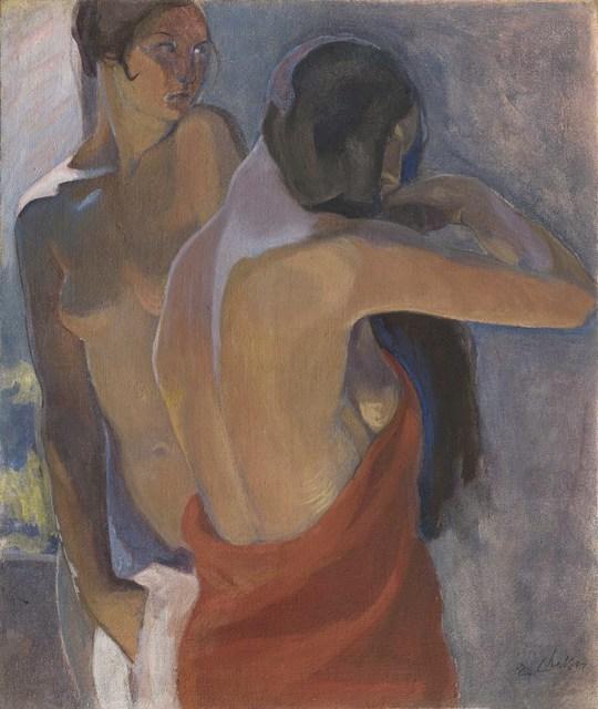 , 'Two Nudes or Double Self-portrait ,' ca. 1918, Antonacci Lapiccirella Fine Art