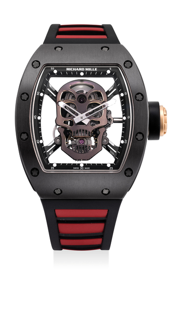 Richard Mille, 'A highly attractive and rare limited edition titanium, pink gold and ceramic skeletonized tonneau-shaped wristwatch with tourbillon, original certificate and box, numbered 6 of a limited edition of 6 pieces, specially made for the Asian market', 2013, Phillips