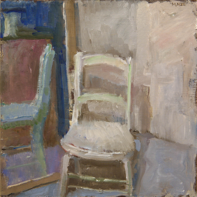 , 'White Chair and Mirror,' ca. 2018, Hofheimer Gallery