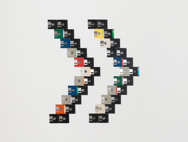 , 'Floppy disks #1 (on wall),' 2017, Klowden Mann