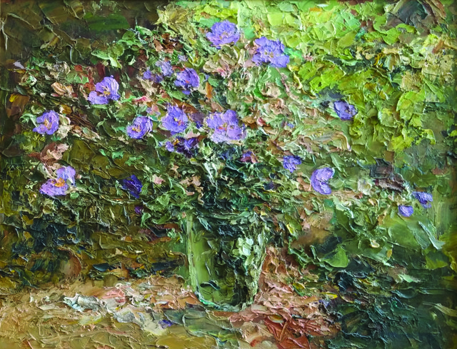 , 'Purple Flowers,' ca. 2015, Paul Scott Gallery & galleryrussia.com