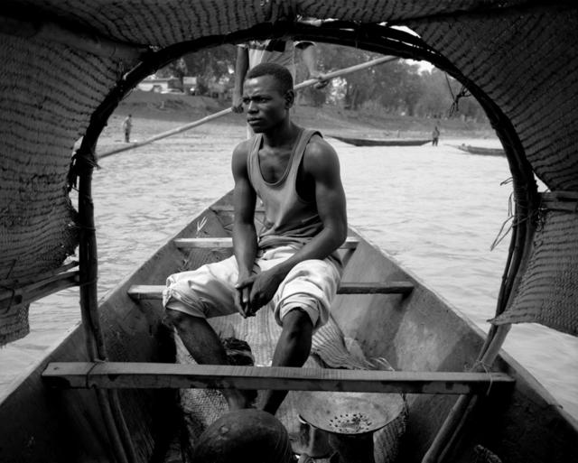 Ian van Coller, 'Man in Boat, Niger River, Mopti', 1998, jdc Fine Art
