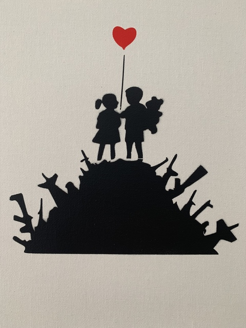 """Banksy, 'BANKSY DISMALAND """" KIDS WITH WEAPONS"""" WITH COA', 2015, Arts Limited"""