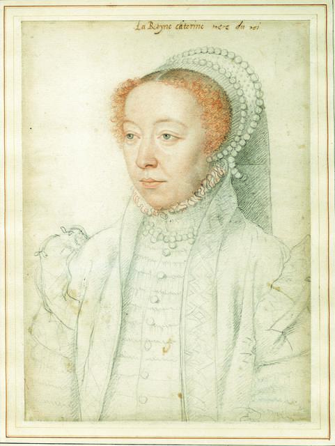 , 'Portrait of Catherine de Médici,' 1550, British Museum