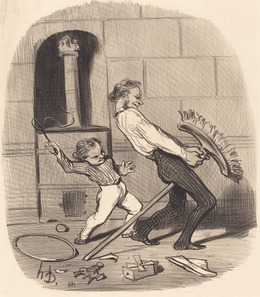 Honoré Daumier, 'Leçon d'équitation, haute école', 1846, National Gallery of Art, Washington, D.C.