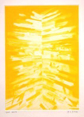Erik Olson (b. 1982), 'Gordon (Yellow)', 2014, Drawing, Collage or other Work on Paper, Intaglio print, VIVIANEART