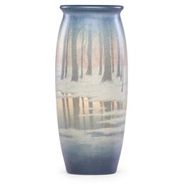 Winter Scenic Vellum vase, Cincinnati, OH
