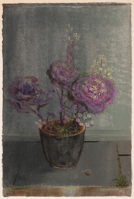 , 'Evening Light on the Terrace (Flowering Cabbage and Michaelmas Daisy),' 1993, Michael Rosenfeld Gallery