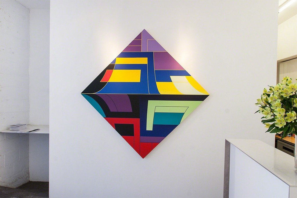 Thomas Burke, Bliss, 2015, acrylic on panel, 68 x 68 inches