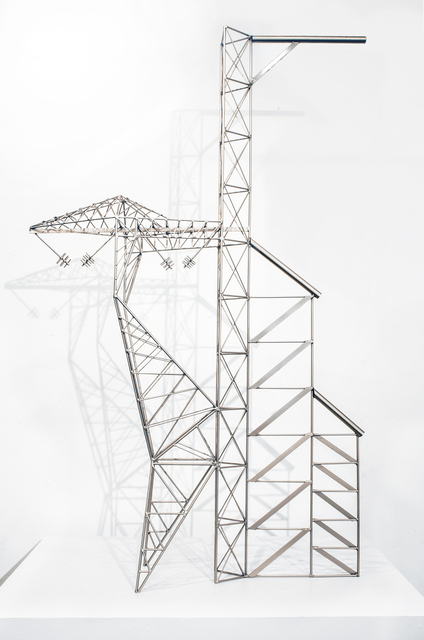 , 'Abstract Model Series #4 (Asymmetric trussed tower with planar buttressing),' 2015, OTA Contemporary