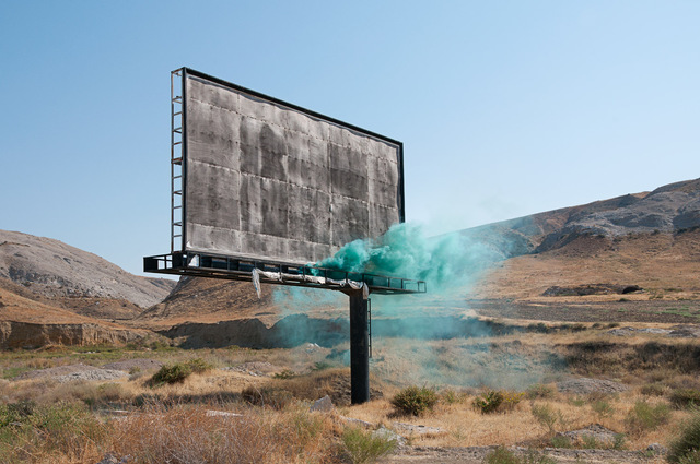 Isabelle & Alexis, 'Anatolia - Green smoke bomb in front of a billboard ', 2013, B Lounge Art
