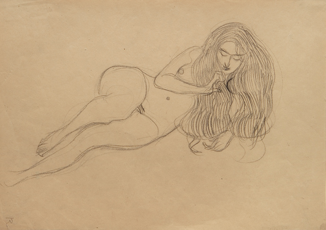 """, 'Study for """"Lust"""" in the Beethoven Frieze,' 1901, W & K - Wienerroither & Kohlbacher"""