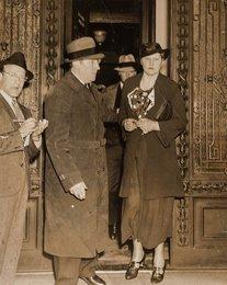 Women Leaving Court (three photographs)