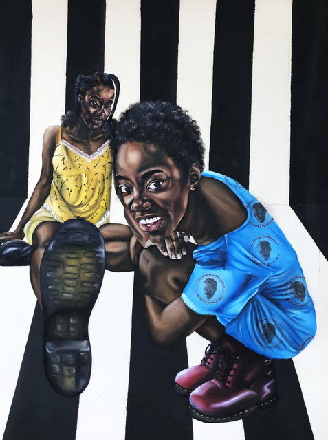 Ekene Emeka Maduka, 'This on no be Close-up', 2020, Painting, Oil on canvas, Ross-Sutton Gallery