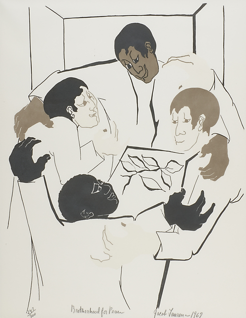Jacob Lawrence, 'Brotherhood for Peace', 1967, Print, Lithograph in colors, Rago/Wright