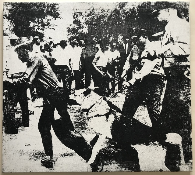 """Andy Warhol, '""""Little Race Riot"""" Attributed to Warhol.', 1964, Painting, Silkscrened ink on canvas., MultiplesInc Projects"""
