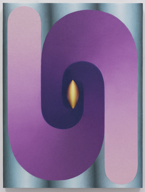 , 'Linked Lingam (purple, teal, yellow),' 2018, Pace Gallery