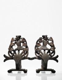 Edgar Brandt, 'A Rare Pair of Andirons,' circa 1931, Sotheby's: Important Design