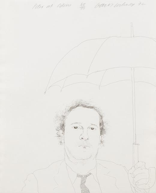 David Hockney, 'The Restaurateur (Peter at Odins)', 1972, Hindman